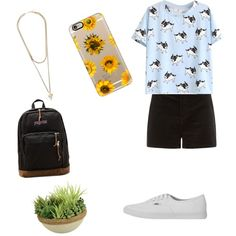 by gabyrazo on Polyvore featuring polyvore fashion style Vans JanSport Givenchy Casetify