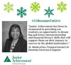 Reason #15: #JA helps students #dream big! Help us be their #inspiration! Visit www.fundJA.org/.  #25ReasonsToGive