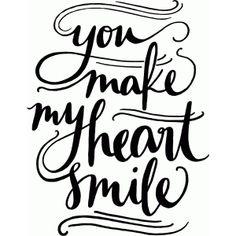 Silhouette Design Store: you make my heart smile