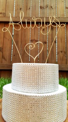 Wedding cake topper, personalized cake topper,engaged, engagement party,wedding, wedding cake,wedding decor, rustic wedding,wired twist