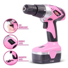 Pink Power Cordless Drill