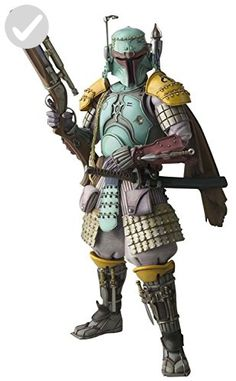 Action figure of Boba Fett (Ronin Samurai Ver.) from the Japanese concept of Star Wars Samurai series by Tamashii Nations: Meisho Movie Realization. Figure made of PVC material, 17 cm tall, with multiple articulations and accessories, by Bandai. Figurines D'action, Anime Figurines, Star Wars Figure, Star Wars Action Figures, Star Wars Toys, Star Wars Art, Star Trek, Macau, Brunei