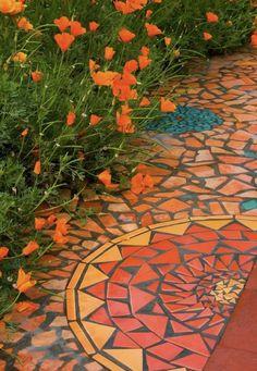 Floor mosaic tiles #ceramic #tiles #porcelain #mosaic #hardwood #vernon