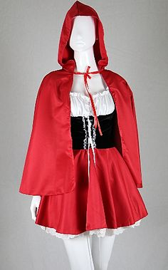 Turn heads at your next costume party and turn heads with this new, sexy adult take on the child hood classic Little Red Riding Hood. Fancy Dress Costumes For Women, Fancy Costumes, Fancy Dress Outfits, Sexy Halloween Costumes, Cosplay Costumes, Movie Costumes, Party Dresses, Little Red Riding Hood Halloween Costume, Red Riding Hood Costume