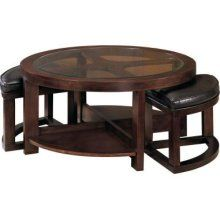 Furniture of America Gracie Dark Walnut 5 Piece Coffee Table and
