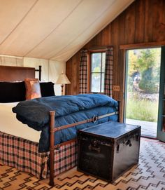 Glamping at The Ranch at Rock Creek means repose for your toes with Montana nature at your fingertips. Photo by Jackie Greaney @jackiegreaney