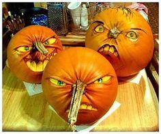 pumpkin face designs painted | pumpkin faces