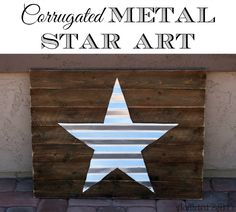 image of crafts using corrugated sheet metal | Now, before you head out, be sure to head over to Addicted 2 DIY to ...