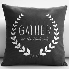 personalized gather throw pillow cover from RedEnvelope.com