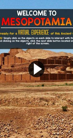 Quite the virtual experience for… Ancient Mesopotamia Interactive PowerPoint. Quite the virtual experience for… History Classroom, History Teachers, Teaching History, History Education, Ancient World History, World History Lessons, History Projects, Women's History, European History