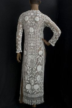 Irish crochet lace dress 1910