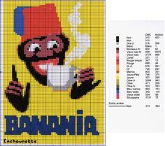 0 point de croix grille banania publicité Free Cross Stitch Charts, Easter Cross, C2c, Harley Davidson, Fictional Characters, Images, Recherche Google, Cross Stitch Pictures, Free Cross Stitch Patterns