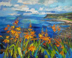 Judith Bridgland, Rain over the Sea near Fair Head