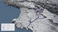 LA River  Visualizing Nutrients Design Solution Runner Up.  Visualizing nitrogen + Phosphorus data for the Los Angeles River since 1966.