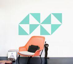 TRIANGLES | Dreiecke 8er SET in Gr. L. Design Wandsticker von Urban ART Berlin. Wandtattoo Wall ART auf DaWanda.com