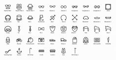 Beautiful Hipster Icons Set - Free Download