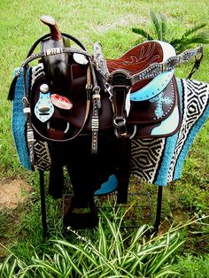 Western Cordura Trail Barrel Pleasure Horse SADDLE Bridle Tack Brown 4950 in Sporting Goods, Outdoor Sports, Equestrian | eBay