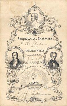 1869 Phrenology Poster