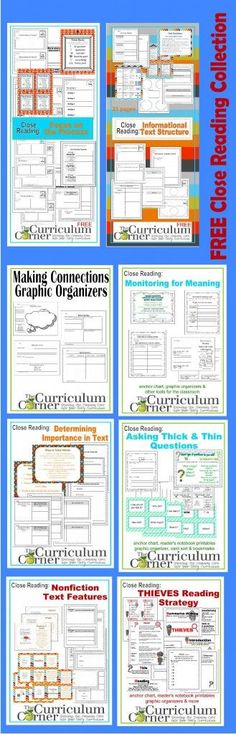 HUGE, FREE Close Reading Collection by The Curriculum Corner | Everything you need to get started!