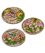 Garden Themed Cement Stepping Stones with Sayin... - $29.69
