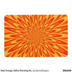 Shop Red, Orange, Yellow Bursting Pattern Floor Mat created by AponxDesigns. Floor Patterns, Orange Yellow, Floor Mats, Personalized Gifts, Create Your Own, Flooring, Abstract, Red, Design