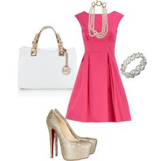 Pink and White :) with some MK...yes please! Please appear in my closet!