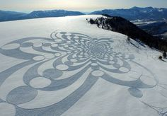 Stunning Drawings on Snow
