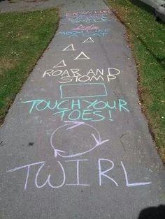 Sidewalk chalk game