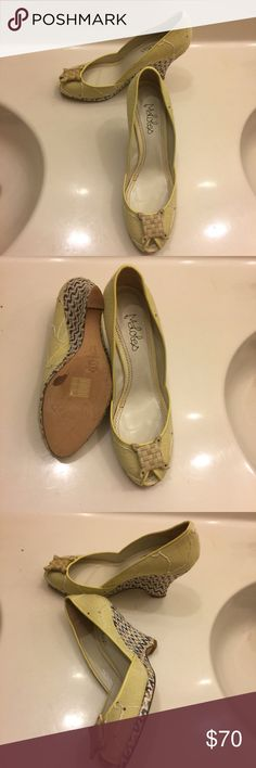 👠Shoe Lovers Sale👠 Maloles Wedge shoes 👠Shoe Lovers Sale👠 Maloles ladies Wedge in yellow. Very Beautiful and Stylish design. Made in Spain. Size 7  🔔FINAL MARKDOWN🔔 Maloles  Shoes Wedges