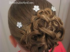Knotted Pony Updo w/Hair Coils (2)