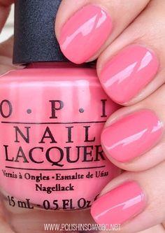 Sorry I'm Frizzy Today - Coca-Cola Collection Pink Gel Nails, Opi Nail Colors, Opi Nails, Nail Colour, Pink Nail Polish, Pink Color, Cute Nails, Pretty Nails, Nail Lacquer