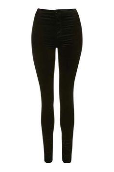 MOTO Black Velvet Joni Jeans