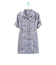 CHECK SHIRT DRESS WITH BELT - Dresses - Girl - Kids - ZARA United States