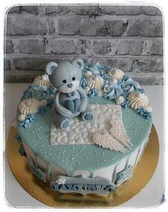 Bez poťahu torta na krstiny. Autorka: herrera Cake, Desserts, Food, Tailgate Desserts, Deserts, Kuchen, Essen, Postres, Meals