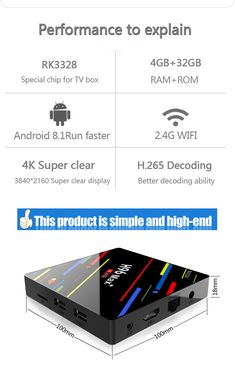H96 Max Plus RK3328 4GB RAM 32GB ROM Android 8.1 USB3.0 TV Box Support HD Netflix 4K Youtube Youtube Home, Photography Camera, Electronic Cigarette, Consumer Electronics, Netflix, Gadgets, Android, Tv