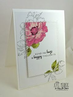 Inky Fingers: Papertrey Ink Tulip Time Birthday card