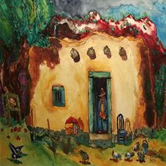 Tom Noble I love Tom Noble's work. Southwestern Art, Southwest Decor, Mexico Art, Mexico Style, Folk, The Joy Of Painting, Bright Art, Desert Art, Naive Art