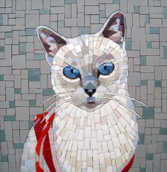 Moonbug Mosaics - blue point siamese