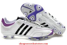 pretty nice cafb0 f8c70 Authentic adidas adipure TRX FG MiCoach White Black Purple For Sale