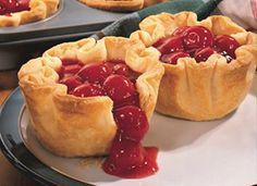 Cherry Pie Cups. Super easy and very good!