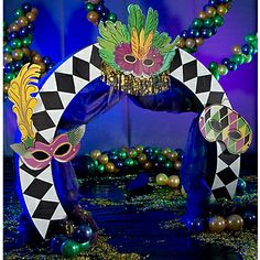 If you're hosting a Mardi Gras party, Bourbon Street is the look you're going for. Get all the Mardi Gras theme decorations you need from Stumps. Dance Decorations, Dance Themes, Mardi Gras Decorations, School Decorations, Birthday Decorations, Homecoming Themes, Homecoming Dance, Mardi Gras Party Theme, Mardi Gras Wreath