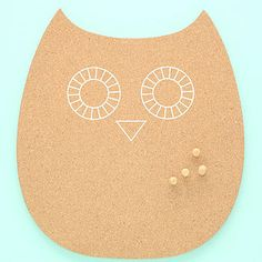 Owl Cork Pin Board - not on the high st £14