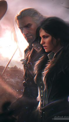 The Witcher III: The Wild Hunt - Geralt of Rivia and Yennefer of Vengerberg Witcher 3 Yennefer, Yennefer Cosplay, Yennefer Of Vengerberg, Witcher Art, The Witcher Wild Hunt, The Witcher Game, Fantasy World, Fantasy Art, Witcher Wallpaper