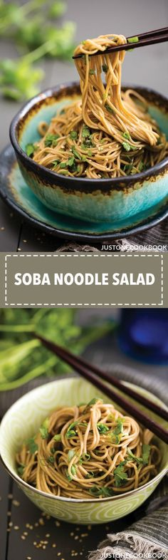 Soba Noodle Salad 蕎麦サラダ | Easy Japanese Recipes at JustOneCookbook.com #chinesefoodrecipes