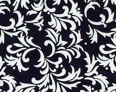 Fresh Batiks Botanica - Vine Silhouette Batik - Black. Fabric from eQuilter.com