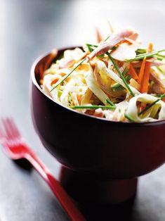 Σαλάτα+με+λάχανο,+καρότα+και+κοτόπουλο