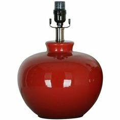 pick a lamp for the entry table    $29.99store price  Red Glazed Ceramic Beanpot Lamp Base