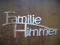 Tür- & Namensschilder - Namensschild / Türschild aus Edelstahl 25cm breit - ein Designerstück von Edelstahlschild bei DaWanda
