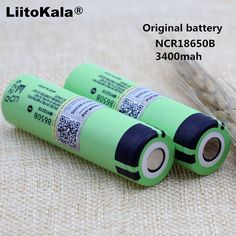 LiitoKala 2PCS 100% new original ncr18650b 3.7v 3400mah 18650 rechargeable lithium battery for panasonic flashlight battery #Affiliate