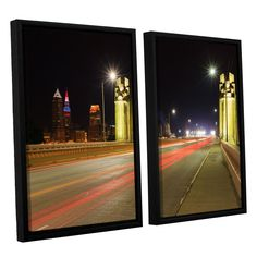 Cleveland 7 by Cody York 2 Piece Floater Framed Canvas Set